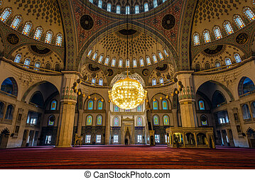 Kocatepe Mosque Kocatepe Cami interior - Ankara, Turkey -...
