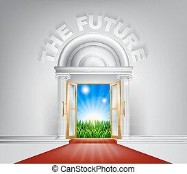 The Future Door Concept - An illustration of a posh looking...