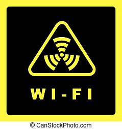 Sign of wi-fi coverage. - Sign of the irradiation zone...