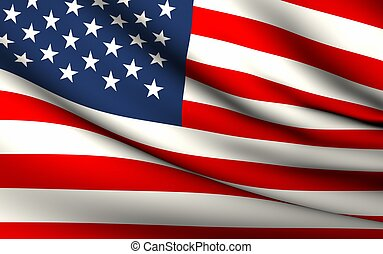 Flying Flag of United States | All Countries Collection |
