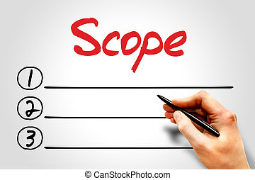 Scope blank list, business concept