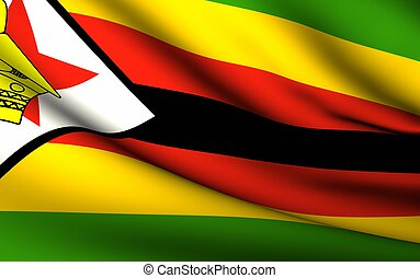 Flying Flag of Zimbabwe | All Countries Collection |