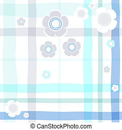 Seamless gentle blue floral cell pattern