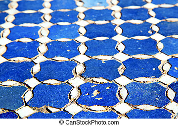 abstract morocco in africa blue texture - abstract morocco...