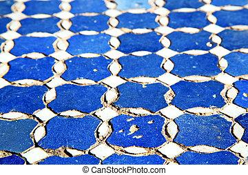 abstratos, Marrocos, em, África, azul, texture, ,