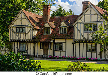 Tudor house - Tudor home in a vilage in Essex, UK with trees...