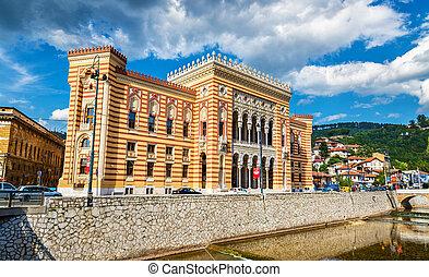 Vijecnica city hall in Sarajevo - Bosnia et Herzegovina