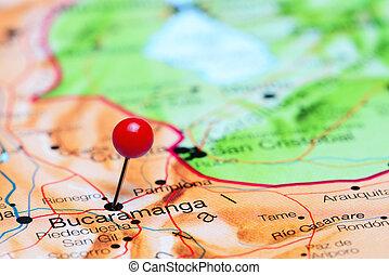 Bucaramanga pinned on America map - Photo of pinned...