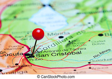 San Cristobal pinned on a map - Photo of pinned San...