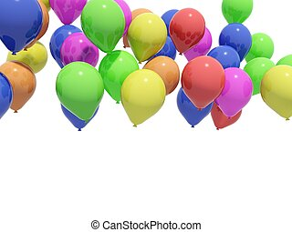 Balloons isolated on white background
