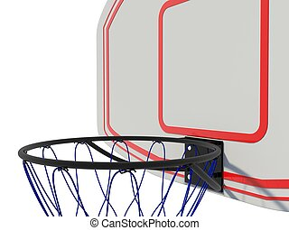 Basketball ring isolated on white