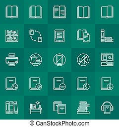 Library outline icons