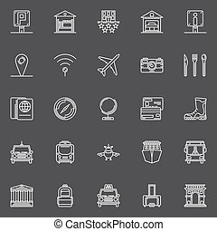 Travel white icons set - Travel icons set - vector...