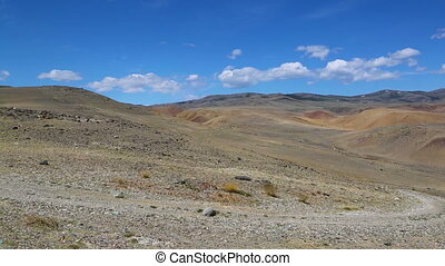 Landscape in the Altai Mountains, pan view