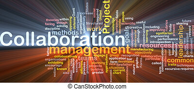 Collaboration management background concept glowing -...