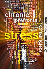 Mental stress background concept glowing - Background...