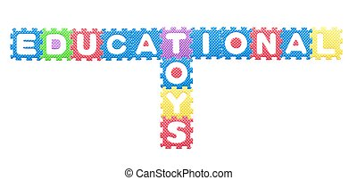 Colored letters, Educational toys for children Isolated on...