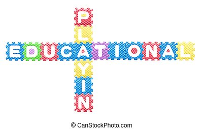 Colored letters, Educational playing for children. Isolated...