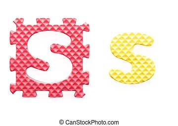 Colored letters S alphabet for children