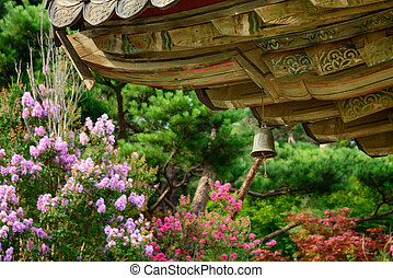 wind chime under the eaves - wind chime called Punggyeong in...