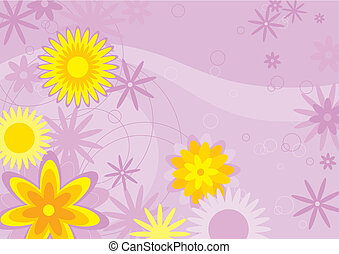Flowers Background (vector)