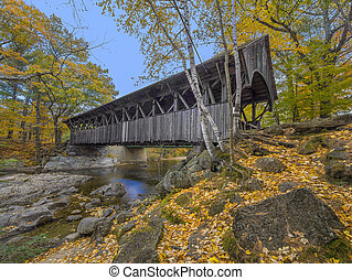 Covered bridge - Old covered bridge during the fall...