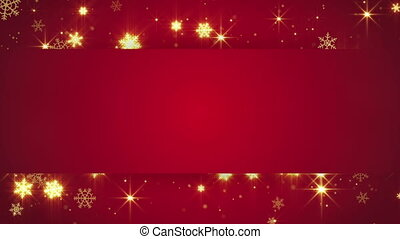 red banner and gold snowfall loop - red banner and gold...