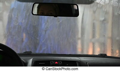 Automatic Car Wash. View from Inside. - Automatic Car Wash....