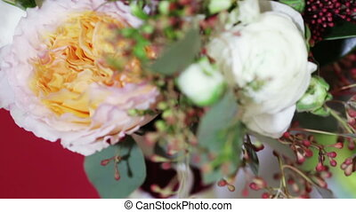 Bridal bouquet - Lying on table for ceremony bridal bouquet