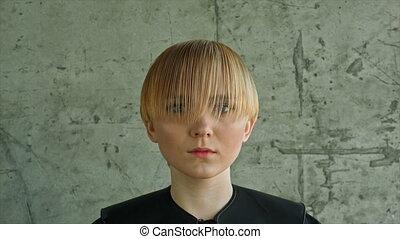 Fashion Blonde Woman Portrait. Blond Hair. Hairstyle....