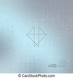 Abstract neat Blurred Background. Hipster Geometric shape,...