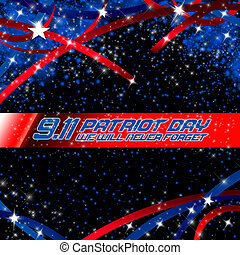 Patriot Day  - An abstract illustration on Patriot Day