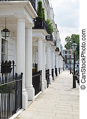 Row of white edwardian houses - Row of beautiful white...