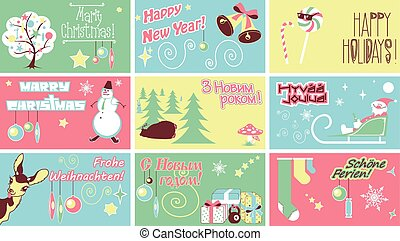 Marry Christmas New Year Holidays Humor Cards. It contains...