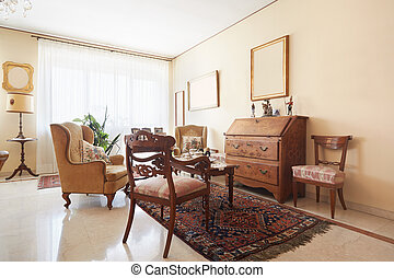 Classic living room interior - Living room, classic Italian...