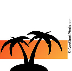 tropical island - abstract tropical island vector