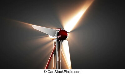 loop wind turbine rotate