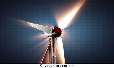 loop wind turbine rotate