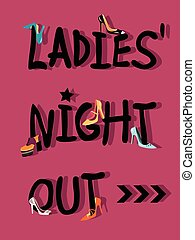 Ladies' Night Out Invitation - Ladies' Night Out invitations...