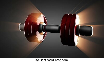 Loop dumbbell rotate