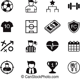 Soccer / football clubvector buttons set