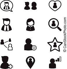 user , group, relation  icons