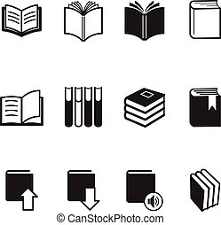 Book icons Vector Illustration