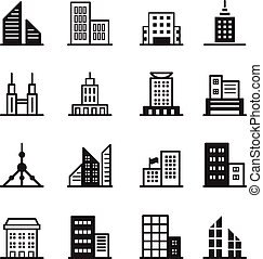 Building icons Vector illustration symbol