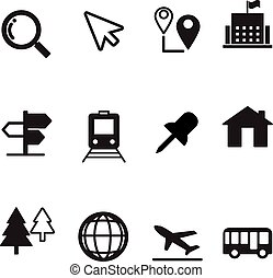 Map icons set