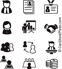 human resource & staff  management icons