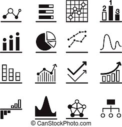 Analytic Graph icons Set - Analytic Graph icon Set