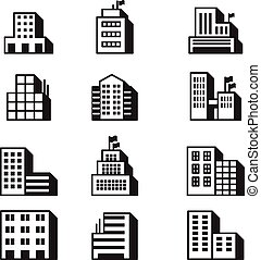 Building icons Vector illustration symbol set