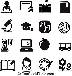 Basic School icon set