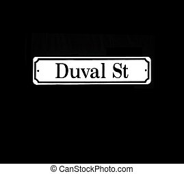 Duval Street Sign - Photograph of historic Duval Street sign...